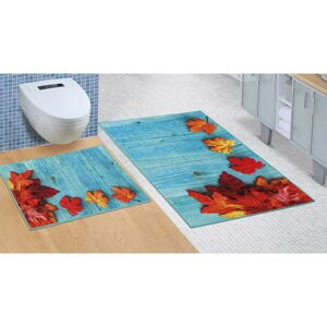 Bellatex Kúpeľňová sada bez vykrojenia Javorový list, 60 x 100 cm, 60 x 50 cm