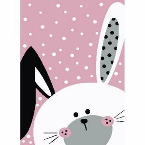 Vopi Kusový detský koberec Kiddo 0131 pink, 80 x 150 cm