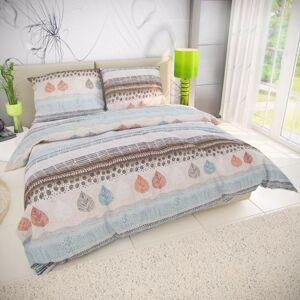 Kvalitex Bavlnené obliečky Kaya modrá, 220 x 200 cm, 2 ks 70 x 90 cm