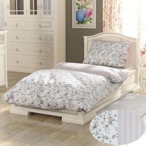 Kvalitex Bavlnené obliečky Provence Viento béžová, 140 x 200 cm, 70 x 90 cm