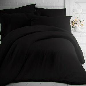 Kvalitex Bavlnené obliečky čierna, 200 x 200 cm, 2 ks 70 x 90 cm