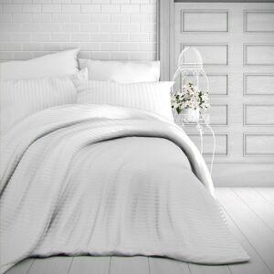 Kvalitex Saténové obliečky Stripe biela, 220 x 200 cm, 2 ks 70 x 90 cm