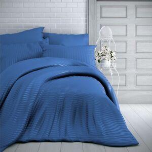 Kvalitex Saténové obliečky Stripe modrá, 200 x 200 cm, 2 ks 70 x 90 cm