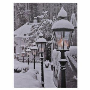 LED obraz na plátne Snowy Lamps, 40 x 30 cm