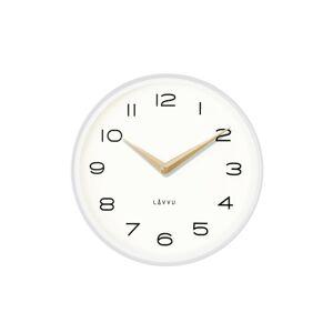 Lavvu LCT1212 Kovové hodiny Living, biela a zlatá