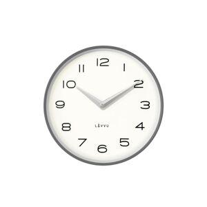 Lavvu LCT1215 Kovové hodiny Living, sivá a strieborná