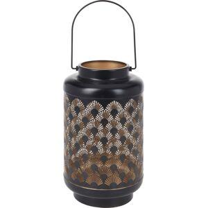 Lovový LED lampáš s časovačom Cora, 15,5 x 28 cm, 18 LED, teplá biela