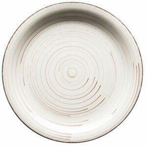 Mäser Keramický plytký tanier Bel Tempo 27 cm, béžová