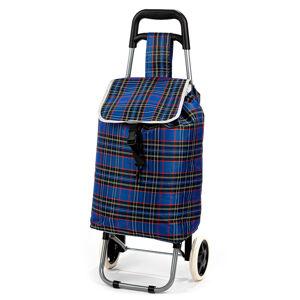 Nákupná taška na kolieskach Kocka, modrá