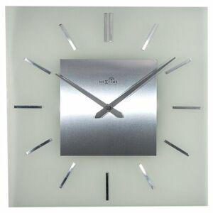 Nextime Stripe Square DCF 3148 nástenné hodiny