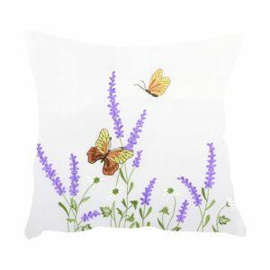 Forbyt Obliečka na vankúšik Motýle a levandule, 40 x 40 cm