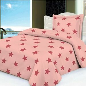 Jahu Obliečky mikroplyš Stars ružová, 140 x 200 cm, 70 x 90 cm