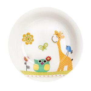 Orion Hlboký detský porcelánový tanier ŽIRAFA 19 cm