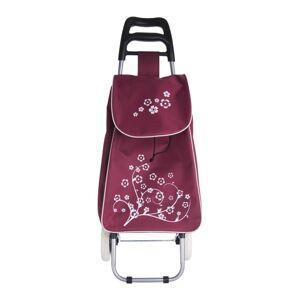 Orion Nákupná taška na kolieskach Kvet fialová, 33 x 20 x 53 cm