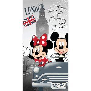 Jerry Fabrics Osuška Mickey and Minnie in London, 70 x 140 cm