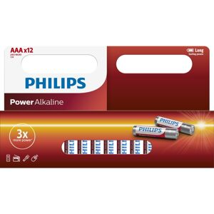 Philips baterie AAA Power Alkaline - 12ks LR03P12W/10