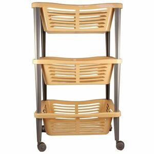 Pojazdný trojposchodový košík Trio, 68 x 40 x 30 cm