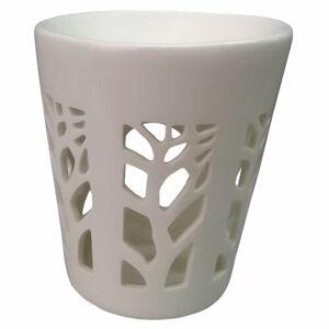 Porcelánová aromalampa Strom života biela, 11 x 13 cm