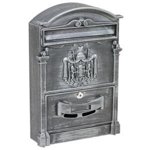 Poštová oceľová schránka s hliníkovým čelom BK.301.SP