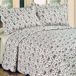 Prehoz na posteľ Flowers, 230 x 250 cm, 2x 50 x 70 cm
