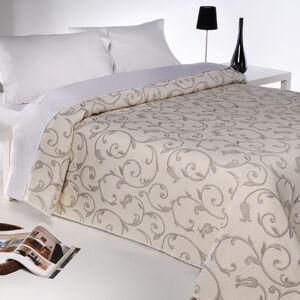Forbyt Prehoz na posteľ Lis béžová, 240 x 260 cm