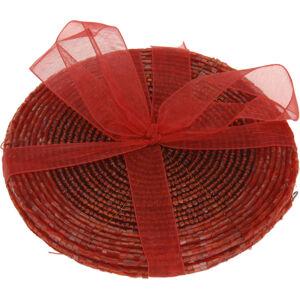 Prestieranie z korálok červená, 10,5 cm, sada 4 ks