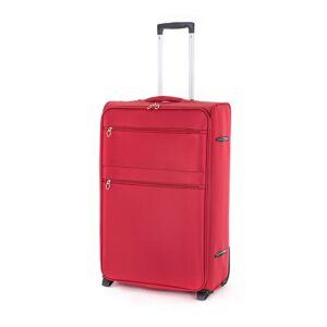 Pretty UP Cestovný textilný kufor TEX15 L, červená