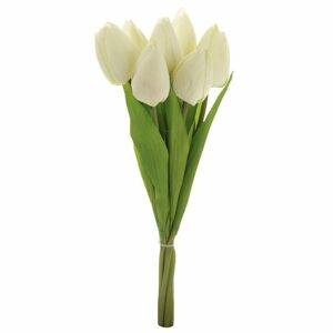 Puget krémových tulipánov, 7 kvetov, 35 cm