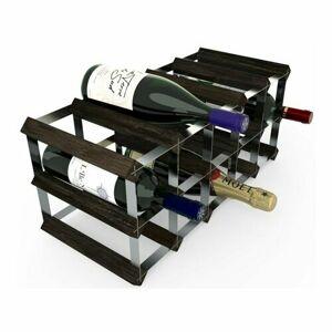 Stojan na víno RTA na 15 fliaš, čierny jaseň - pozinkovaná oceľ / rozložený