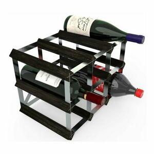 Stojan na víno RTA na 9 fliaš, čierny jaseň - pozinkovaná oceľ / rozložený