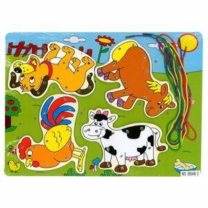 Rappa Drevené prevliekanie Zvieratká, 30 x 22 cm