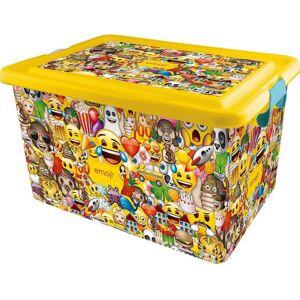 STOR Dekoračný úložný box Emoji, 23 l