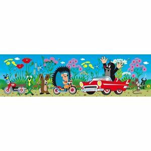 Samolepiaca bordúra Krtko a auto, 500 x 14 cm