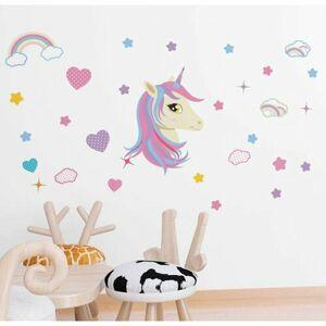 Samolepiaca dekorácia Unicorn, 122 x 70 cm
