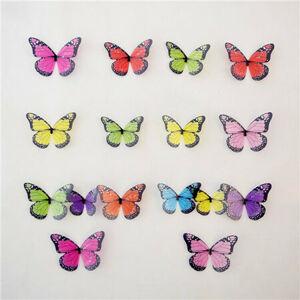 Samolepiace 3D motýle farebné, 19 ks