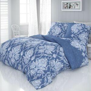Kvalitex Saténové obliečky Vintage modrá, 240 x 220 cm, 2 ks 70 x 90 cm