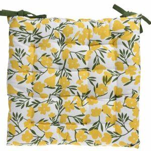 Sedák na stoličku Deny žltá, 40 x 40 cm