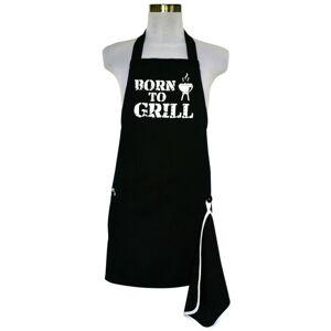 Šik v kuchyni pánska zástera s otváračom Born to Grill, 22,5 x 75 cm