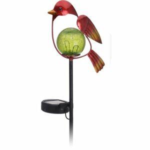 Solárna lampa Bird červená, 13 x 6 x 52 cm