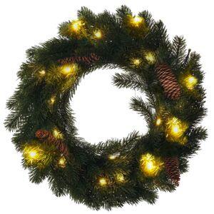 Solight 1v239 Vianočný LED veniec, 15 LED, teplá biela, pr. 40 cm