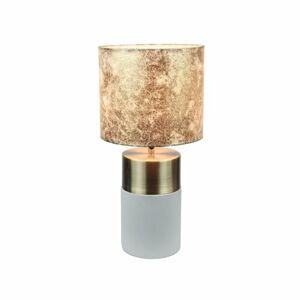 Tempo Kondela Stolná lampa, svetlosivá/hnedá vzor, QENNY TYP 18 LT8371