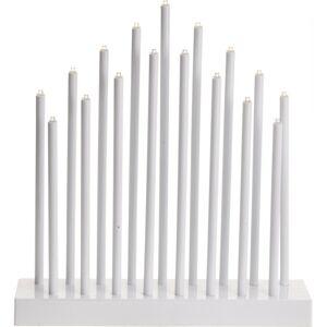 Stolný svietnik Pipes biela, 17 LED