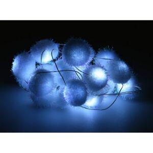 Svetelná LED reťaz s 20 guľami Snowball, 1,9 m, studená biela