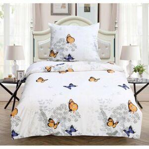 Jahu Svietiace obliečky Butterfly, 140 x 200 cm, 70 x 90 cm