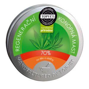 Topvet Konopná regeneračná masť 70 %, 100 ml