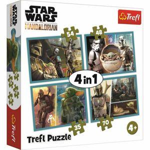 TREFL Mandalorian a jeho svět 4v1 35,48,54,70 dielov puzzle