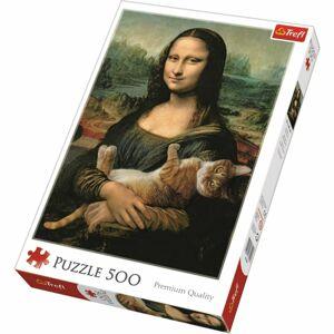 Trefl Mona Lisa and Purring Kitty 500 dielov puzzle