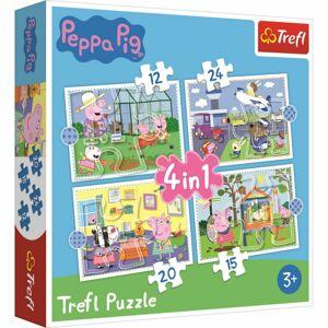 TREFL Prasátko Peppa: Vzpomínky na prázdniny 12,15,20 24 dielov puzzle