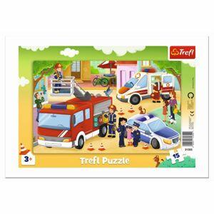 Trefl Zásahová vozidla 15 dielov puzzle