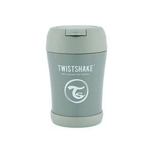 Twistshake Termoska na jedlo 350 ml, sivá